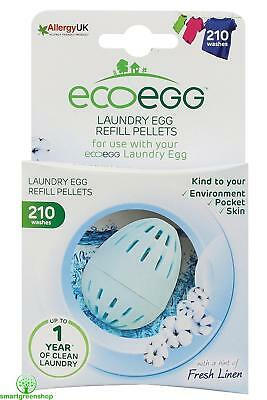 ecoegg Laundry Egg Refill Pellets 210 Washes Soft Cotton Hypoallergenic