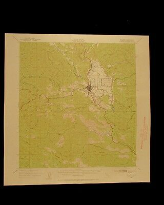 Willits California vintage 1956 original USGS Topographical chart
