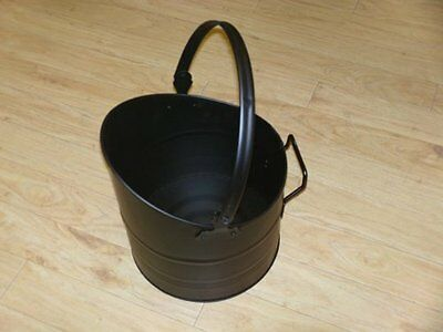22cm De Vielle Black Metal Miniature Coal Hod Mini Fire Scuttle Bucket Scoop