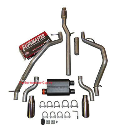 "Chevy GMC 1500 99-06 2.5/"" Dual Exhaust Kits Flowmaster Super 44 Corner Exit"