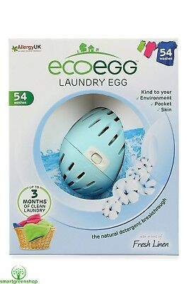 ecoegg Laundry Egg 54 Washes Fresh Linen Eco-friendly and Hypoallergenic