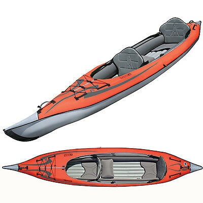 New Advanced Elements AdvancedFrame2 Convertible Inflatable Tandem Kayak AE1007R