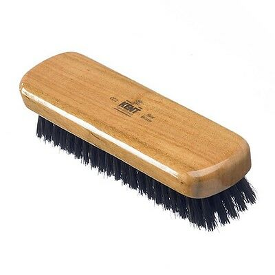 Kent Handcrafted Clothes Brush CC2 Cherry Wood Travel Sized for Lint Dust Hair