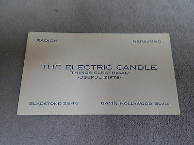 The Electric Candle Hollywood, CA  Business Card / Blotter