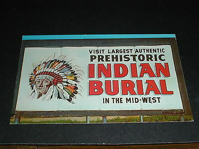 K-30 Famous Prehistoric Indian Burial Pit Kansas USA Postcard