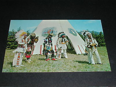 Indians And Tepee Canada Postcard