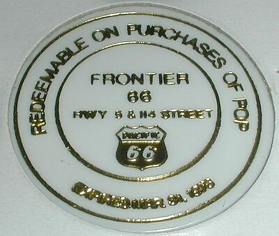 Frontier 66 Redeemable On Purchase Of Pop / Pop Shop .5 Discount Disc White Toke