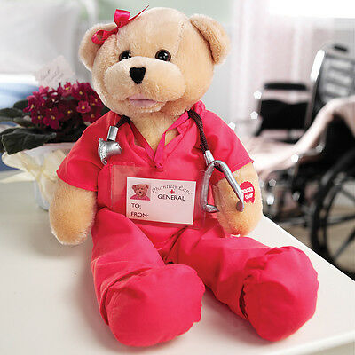 NEW Animated Singing Dancing Get Well Plush Nurse Bear