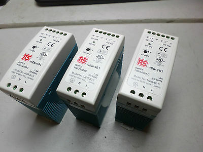 MEANWELL - Qty of 3 - POWER SUPPLIES - MDR-60-5 -- 100-240AC -- 5VDC 10amps