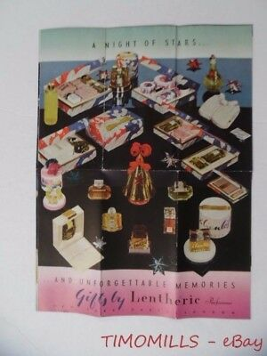 c.1930s Lentheric Parfumeur Perfume Beauty Gift Set Catalog Brochure Vintage VG