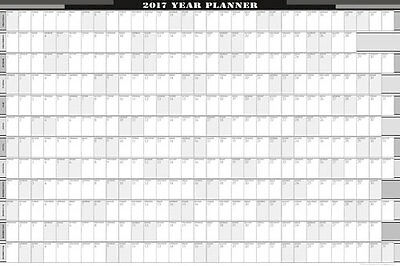 2017 -12 Month YEARLY WALL PLANNER 900 X 600 / 8 COLOURS/BUS/PERSONAL