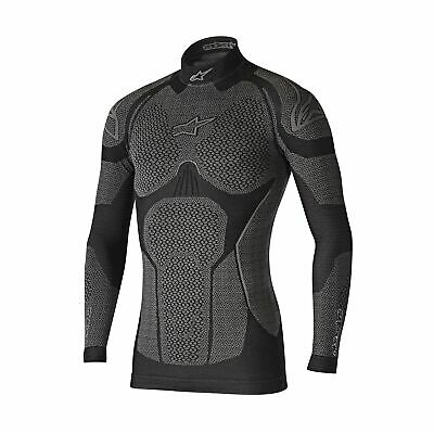 Alpinestars Winter Tech Base Layer Motorcycle Riding Compression Top- Black/Grey