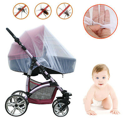 Mosquito Net Stroller Infants Baby Safe Mesh White Bee Insect Bug Cover NEW