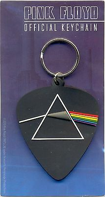 Pink Floyd Dark Side of the Moon Rubber Keyring Official Plectrum Shape