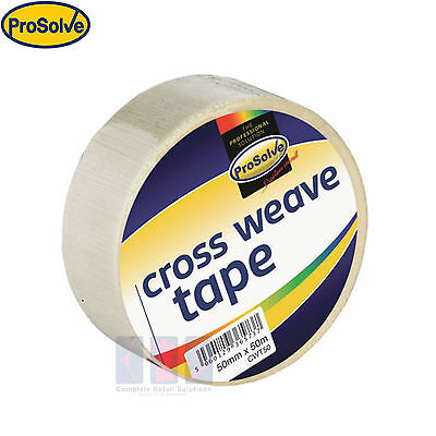 Prosolve™ STRONG CROSSWEAVE REINFORCED TAPE 50mm x 50M NEW