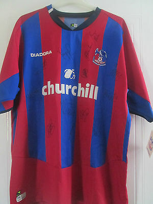 Crystal Palace 2004-2005 Squad Signed Home Football Shirt BNWT /40669
