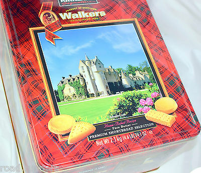 Walkers Pure Butter Shortbread Selection Biscuits 2.1Kg Tin Premium Exp 07/17
