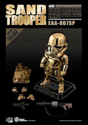 Beast Kingdom Egg Attack Star Wars Sandtrooper gold figure SDCC 2016 Exclusive