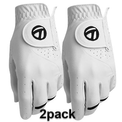 """""""New 2016"""" TaylorMade All-Weather Leather Palm Performance Golf Gloves 2 Pack"""