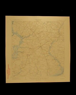 Hurlock Maryland Choptank River vintage 1945 USGS Topographical chart