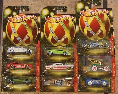 9-2011 Hot Wheels Walmart Holiday Rods Lamborghini,Datsun 240z,Cadillac,Focus +5
