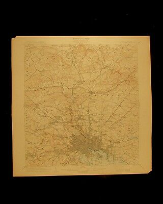 Baltimore Maryland Patapsco river vintage 1904 original USGS Topographical chart