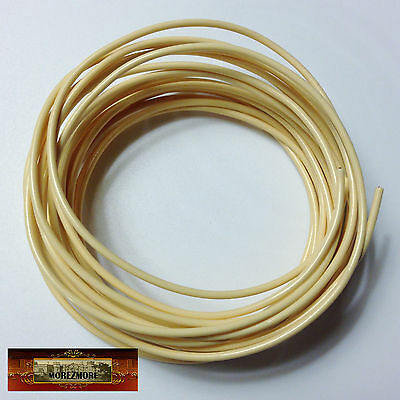 M01254 MOREZMORE Twisteez IVORY Fun Craft Wire Plastic Coated 24 GA Soft A60