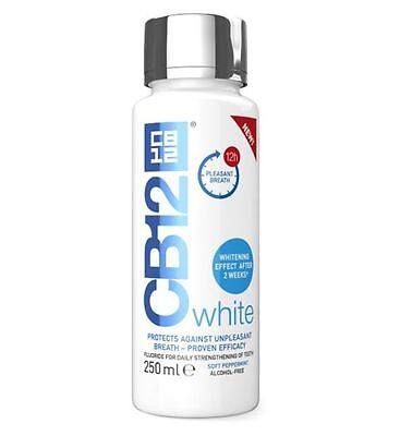 15 x CB12 White Mouthwash 250ml Whitening Effect After 2 weeks & Fresh Breath