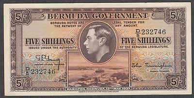 Bermuda Government 5 Shillings 12-5-1937 About Uncirculated