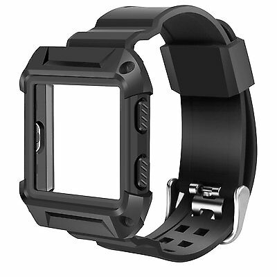 quality design aeff0 19a39 FITBIT BLAZE ACCESSORY Rugged Pro Resilient Protective Case with Silicone  Band