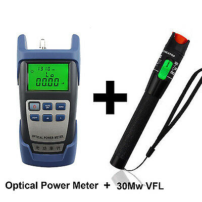 Optical Power Meter + 30 Mw Visual Fault Locator For Optic Fiber Tools For NBN