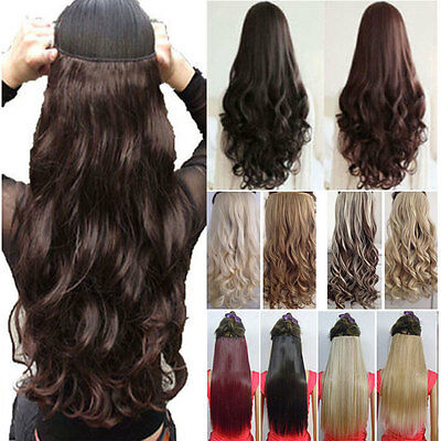 UK Real Thick Clip In Hair Extensions Long New Half Full Head As Human Hair pt99