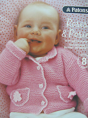 Patons Knitting Pattern Book,new,no 1313,roses/posies,babies