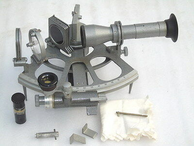 Marine Ships Russian Cho-T Nautical Sno M Sextant With Accessories