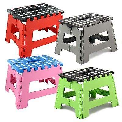 Plastic Multi Purpose Folding Step Stool Hevy Duty Todlers Kids Adultds carry
