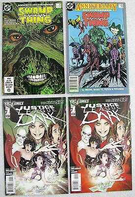 Justice League Dark Set: Swamp Thing #49 & #50 +NEW 52 JLD #1 1st & 2nd Prints!