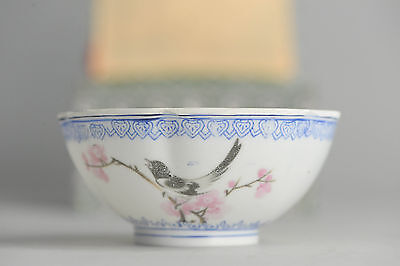 20thC Proc Chinese Porcelain Eggshell Cup/Bowl for Ceremony China Antique in Box