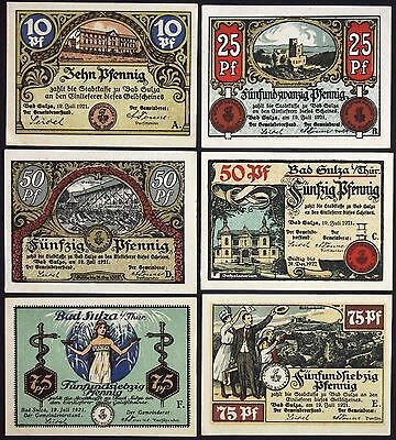 "BAD SULZA 1921 ""Healing Waters"" complete set Germany Notgeld"