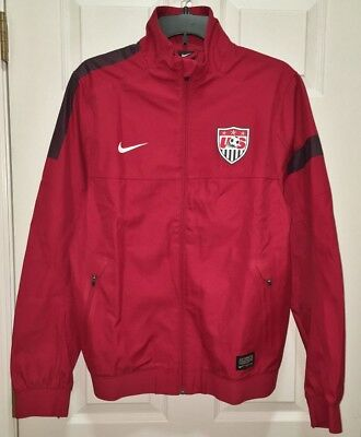 7bdd73d43ff NWT Mens S M XL NIKE US National Soccer Team Sideline Red Navy Blue Track  Jacket