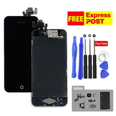 iPhone 5 5S 5C LCD Touch Screen Digitizer Display Assembly + Home Button Camera