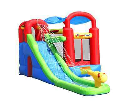 Inflatable Bounce House Slide Wet Kids Outdoor Water Park 7 & 1 Obstacle Jumper