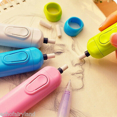 1 Set Automatic Electric Eraser Art Drawing Rubber School Office Supplies Gifts