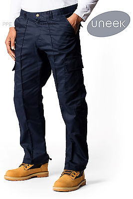 Uneek UC902 Mens Cargo Combat Work Trousers Workwear Pants