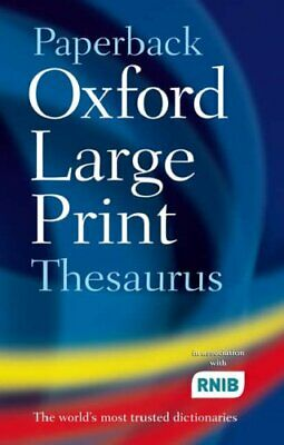 Paperback Oxford Large Print Thesaurus by Oxford Dictionaries Paperback Book The