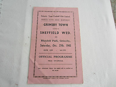 1945-46 LEAGUE NORTH GRIMSBY TOWN v SHEFFIELD WEDNESDAY