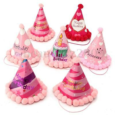 Compleanno Partito Cappelli Paper Hats Dress Up Girls Boys Party Supplies Decor