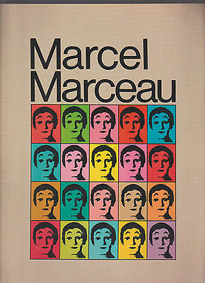 Marcel Marceau Souvenir Program Book 1974 Mime