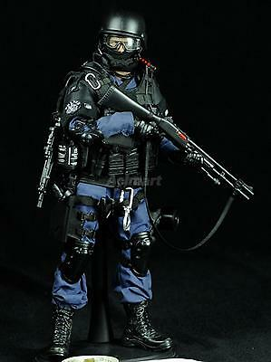 1/6 Scale Action Figure Toy Assualter Special Forces Police Soldier Black