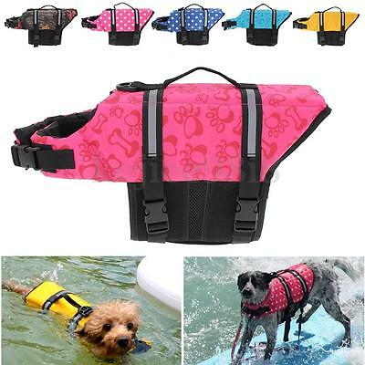XS/S/M/L Pet Dog Cat Saver Life Jacket Reflective Float Vest Aid Boating Sailing
