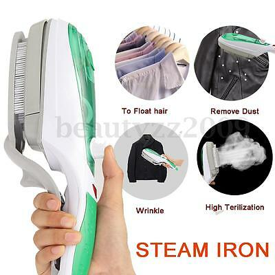 New Steam Iron Handheld Electric Steam Cleaner Travel Home Fluff Fabric Brush